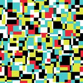 Seamless abstract texture with rectangles. Vector mosaic  illustration. poster