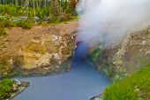 Dragon's Mouth Spring at Yellowstone National Park poster