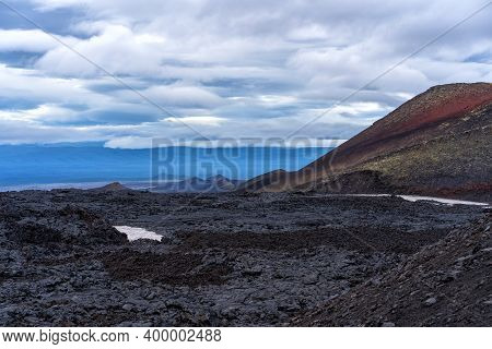 Tolbachinsky Dol. The Territory Of The Eruption 2012-2013 Of The Plosky Tolbachik Volcano. Solidifie