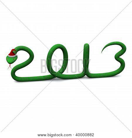 New year 2013 symbol, 3d