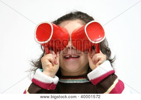 child girl with mug, healhty food photo