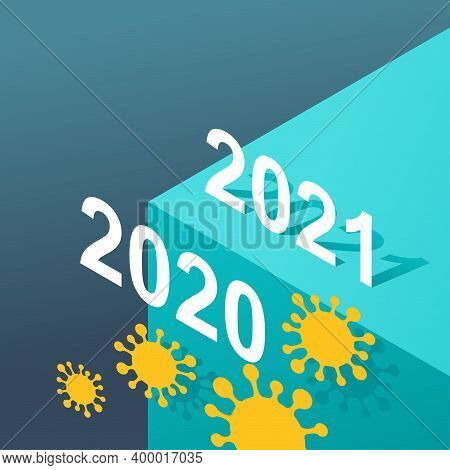 How We Survive In 2021 After Covid-19 Pandemic - Isometric Timeline With Abyss Under 2020 Year - Cre