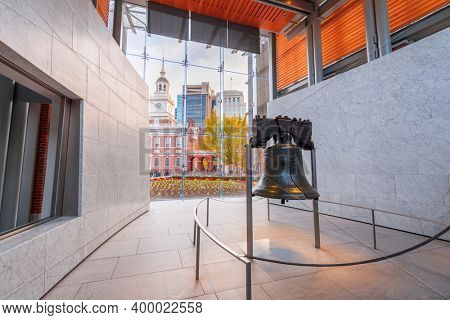 Philadelphia, Pennsylvania, USA at the Liberty Bell.