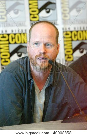 SAN DIEGO, CA - JULY 13: Joss Weedon attends a press conference for