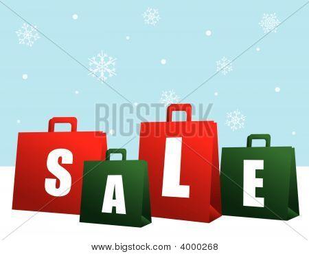 Christmas Sale Shopping Bags