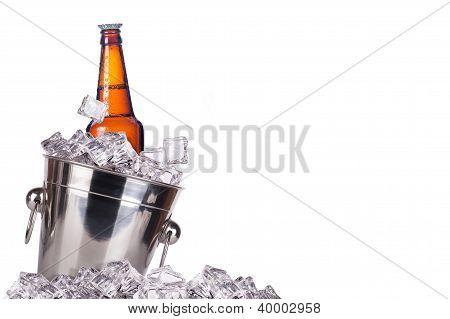 Beer Bottle In Ice Bucket