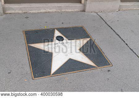 Vienna, Austria - August 30, 2020: Johann Strauss Star Sign On Vienna`s Walk Of Fame.