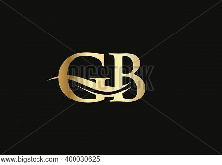 Water Wave Gb Logo Vector. Gb Letter Logo Design For Business And Company Identity. Creative Gb Lett