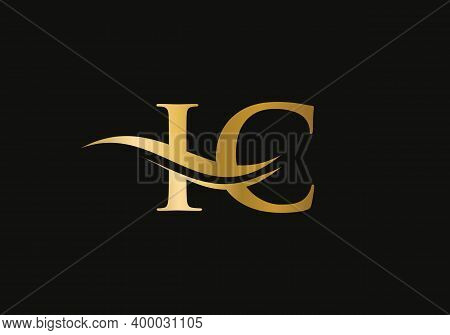 Ic Letter Logo Design For Business And Company Identity. Creative Ic Letter With Luxury Concept. Wat