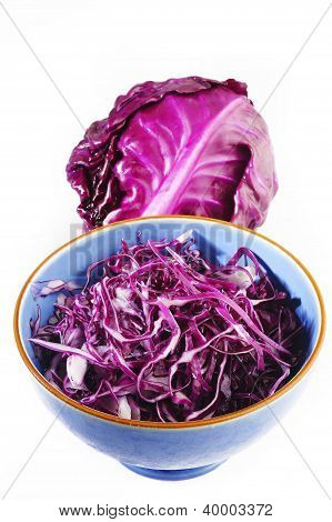 Sliced Of Red Cabbage