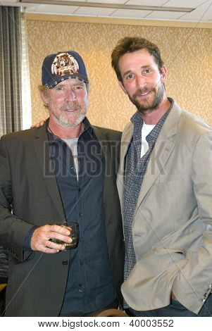 SAN DIEGO, CA - JULY 13: Will Patton and Noah Wyle arrive at the 2012 Comic Con convention press room at the Bayfront Hilton Hotel on Friday, July 13, 2012 in San Diego, CA.