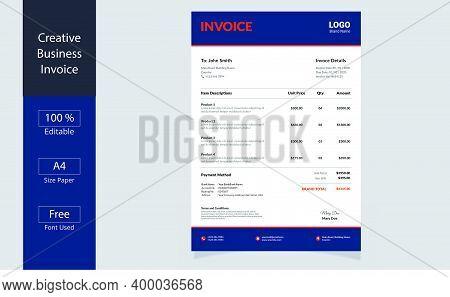 Invoice Minimal Design Template. Bill Form Business Invoice. Business Invoice. Money Bills.price Inv
