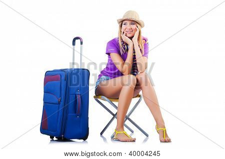 Girl ready for summer vacation