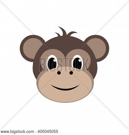 Monkey Icon Isolated On A White Background.vector Illustration.