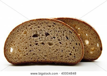 Fresh Baked Bread on White background for eating