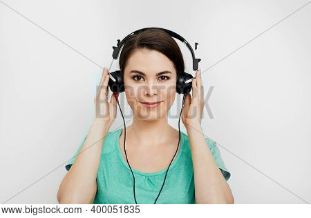 Audiometry, Hearing Exam. Mixed-race Woman Wearing Special Headphones Getting A Hearing Diagnostic.