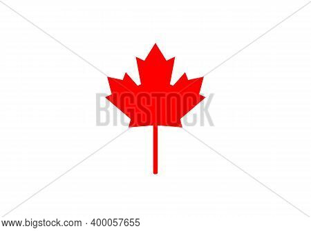 Maple Leaf Vector Illustration. Canada Vector Symbol Maple Leaf Clip Art. Red Maple Leaf.