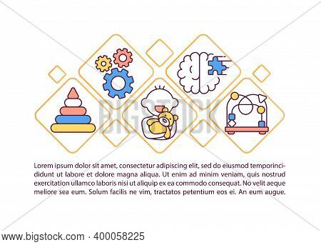 Cognitive Development In Early Childhood Concept Icon With Text. Baby And Toddler Mental Capacity. P