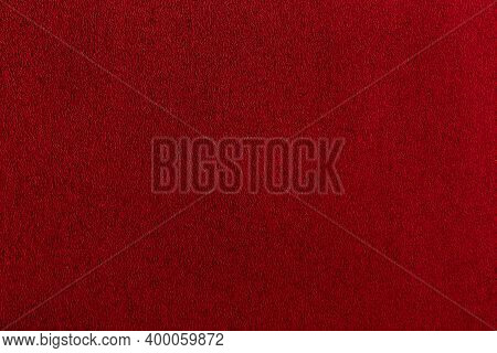 Texture Sheet Of Scarlet Paper. Bordo Dark Smooth Surface. Abstract Red Background.