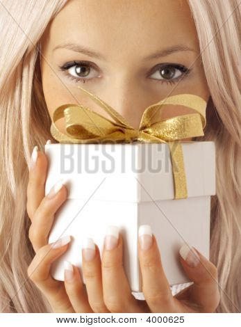 Woman And Gift