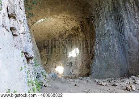 Prohodna Cave Known As God\'s Eyes Near Karlukovo Village, Lovech Region, Bulgaria