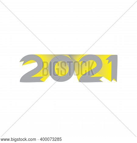 2021 Gray Yellow Year Symbol On Transparent Background
