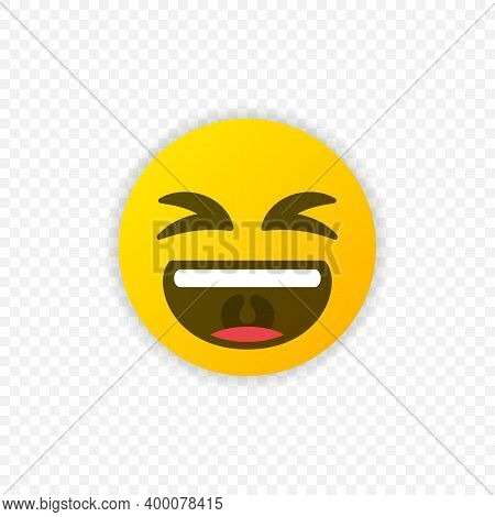 Laughing Emoticon. Laughing Emoji Icon Isolated. Vector Eps 10
