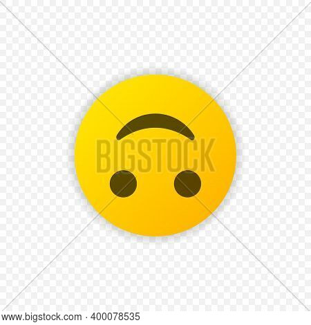 Inverted Smile Emoticon Vector Icon. Positive Smiling Emoji Symbol Isolated. Vector Illustration Eps