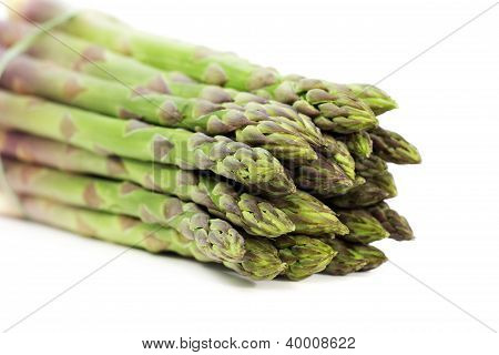 tips of green asparagus