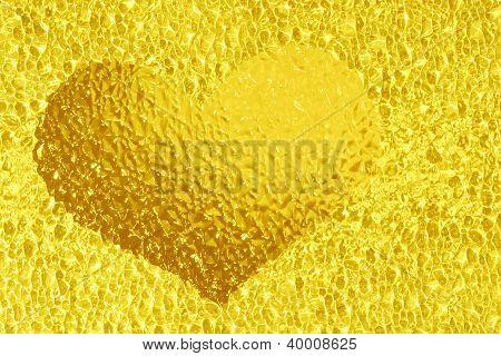 Golden Crystal Heart