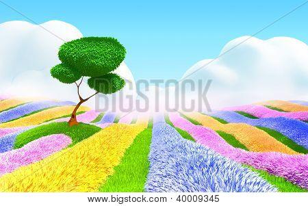 fantasy floral landscape