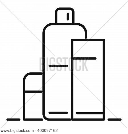 Shampoo Bottles Icon. Outline Shampoo Bottles Vector Icon For Web Design Isolated On White Backgroun