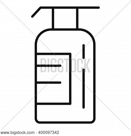 Shampoo Bottle Icon. Outline Shampoo Bottle Vector Icon For Web Design Isolated On White Background
