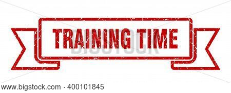 Training Time Ribbon. Training Time Grunge Band Sign. Training Time Banner