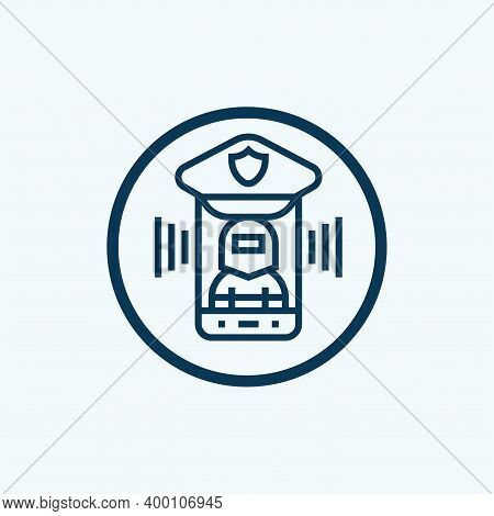 Cyber Crime Icon From Banned Internet Collection. Simple Line Cyber Crime Icon For Templates, Web De