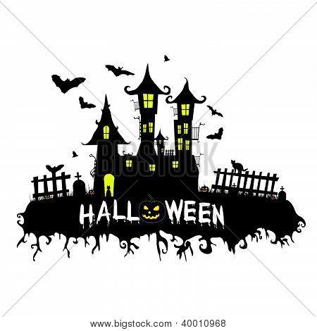 Happy Halloween Vector Illustration Part Three