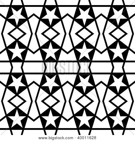 Abstract seamless black and white pattern ( vector in portfolio)