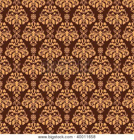 Seamless Brown Damask