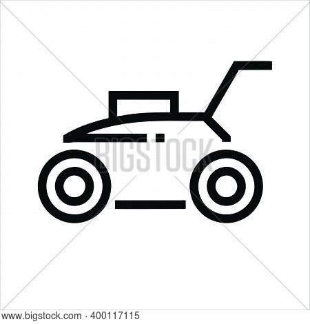 Mower Icon Isolated On White Background From Cleaning Collection. Trendy Lawn Mower Icons And Modern