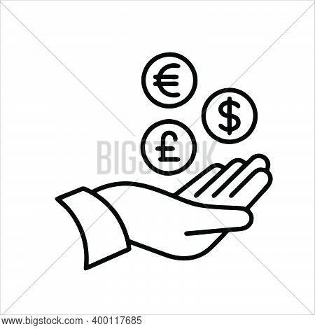 Get Money Icon Isolated On White Background From Money Collection. Get Money Icon Trendy And Modern