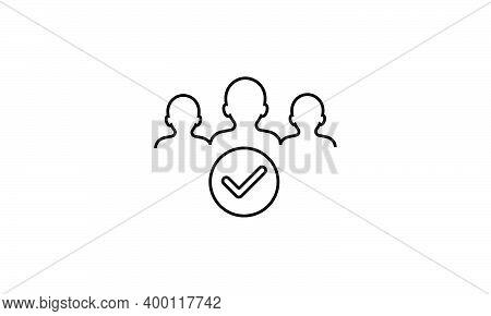 Membership Line Icon.black Icon On White Background