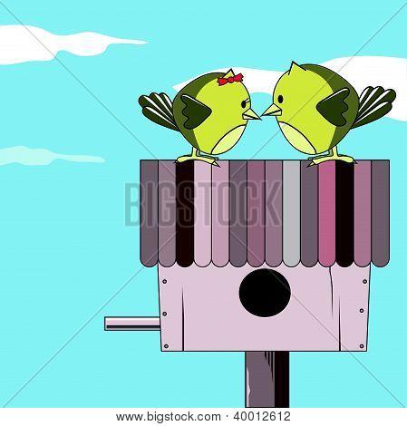 valentine card; bird love