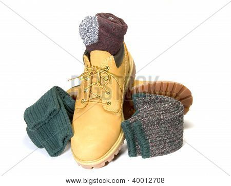 Rugged Outdoor Low Cut Oxford Work Shoe Boot Ragg Socks