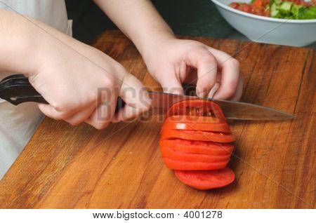 Slicing The Tomato