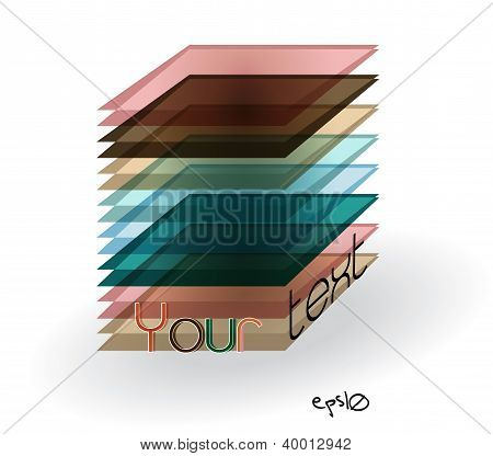 Multicolor abstract logo rectangle.
