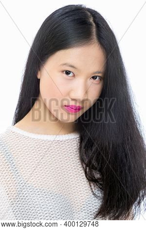 Teenage Asian High School Girl, Beauty Portrait, Skincare Concept