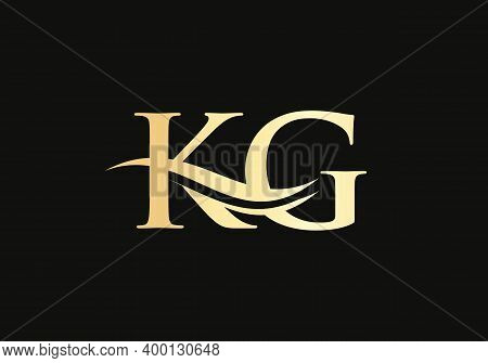Letter Kg Linked Logo For Business And Company Identity. Creative Letter Kg Logo Vector Template.