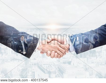 Business People Shake Hands,agreement, Cooperation,closeup,image,shaking Hands For Doing Business To