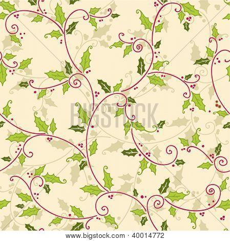vector christmas seamless mistletoe pattern