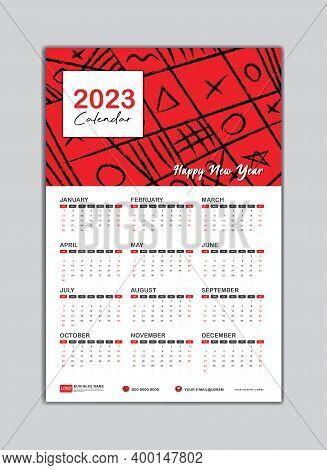 2023 Wall Calendar, Desk Calendar 2023 Template, 2023 Corporate Desk Calendar, 2023 Creative Desk Ca